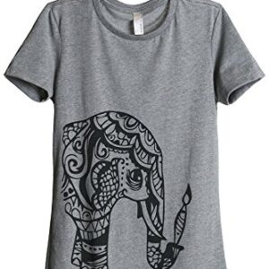 Thread Tank Artisan Elephant Women's Fashion Relaxed T-Shirt Tee Heather Grey Small