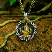 Ganesh Pendant, Sterling Silver Pendant MADE TO ORDER, free shipping, hinduism, indian pendant, silver jewelry