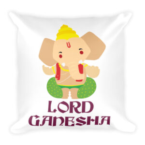 Lord Ganesha - Square Pillow