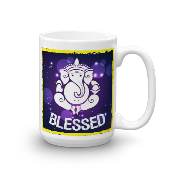 GANESH PURPLE BLESSED CHAI / COFFE CUP