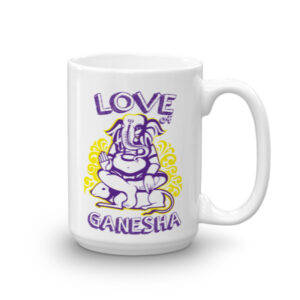 LOVE GANESH PURPLE YELLOW - CHAI / COFFEE MUG