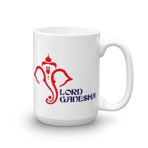LORD GANESHA WHITE / BLUE CHAI / COFFEE MUG