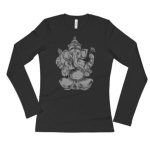GANESH GREYSCALE Ladies' Long Sleeve T-Shirt