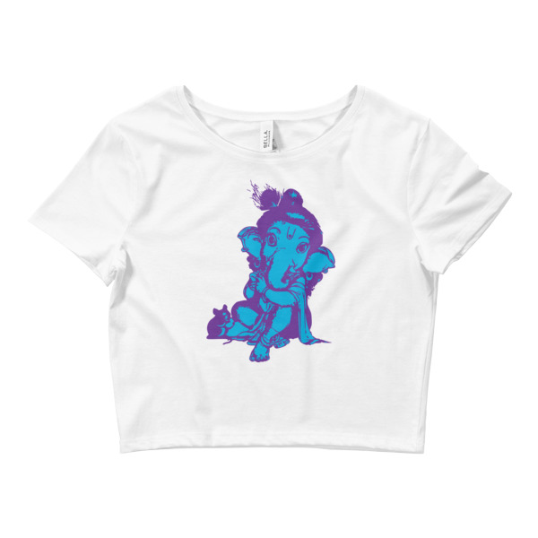 GANESHA BABY SITTING Women's Crop Tee