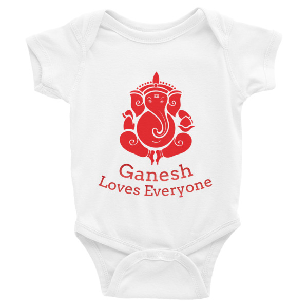 GANESH LOVES EVERYONE Infant Bodysuit