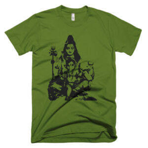 SHIVA AND BABY GANESH Short sleeve men's t-shirt