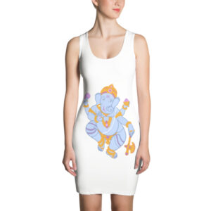 PURPLE GANESHA WOMENS Sublimation Cut & Sew Dress