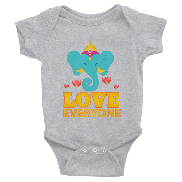 GANESH LOVES EVERYONE HEARTS Infant Bodysuit