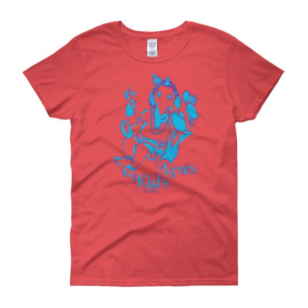 GANESH LOVES KIDS Women's short sleeve t-shirt