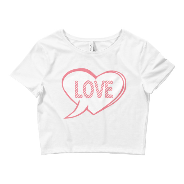 LOVE HEART Women's Crop Tee