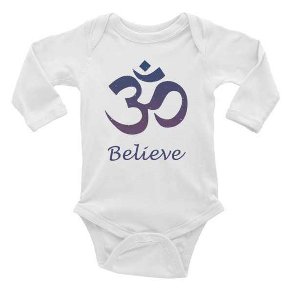GANESH - BELIEVE Infant Long Sleeve Bodysuit
