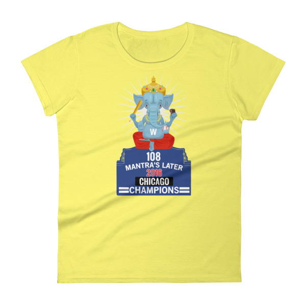 108 MANTRA CHICAGO CHAMPIONS Women's short sleeve t-shirt