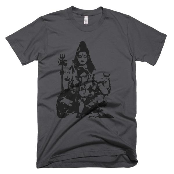 SHIVA AND BABY GANESH Short sleeve men's t-shirt