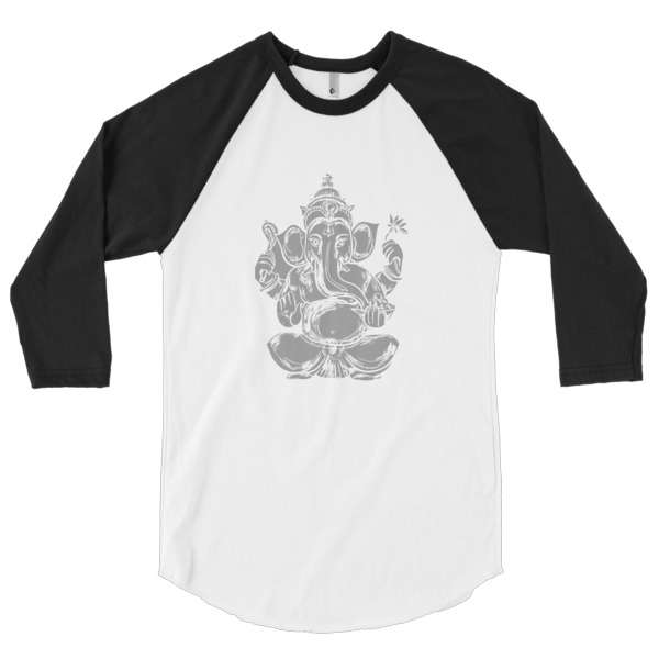 GANESH GREYSCALE 3/4 sleeve raglan shirt