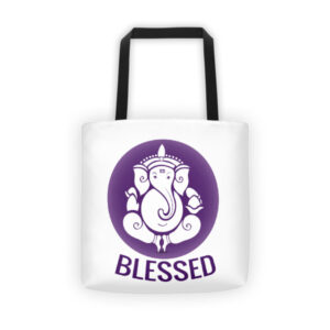 PURPLE BLESSED Tote bag