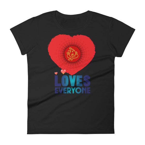 GANESH LOVES EVERYONE Women's short sleeve t-shirt