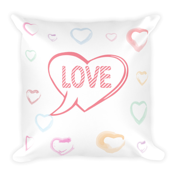 DISCUSS LOVE Square Pillow