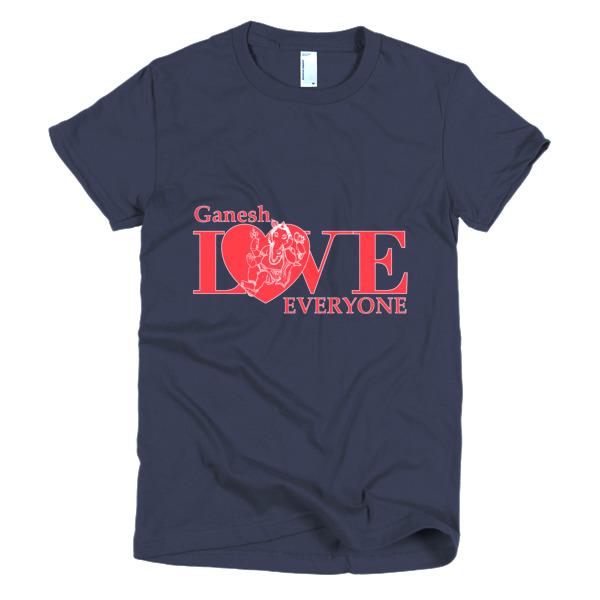 GANESH LOVES EVERYONE HEART Short sleeve women's t-shirt