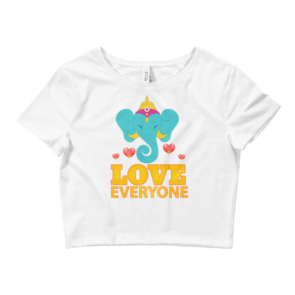 GANESHA LOVES EVERYONE Women's Crop Tee
