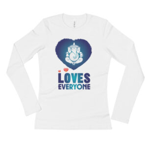 GANESH LOVES EVERYONE Ladies' Long Sleeve T-Shirt