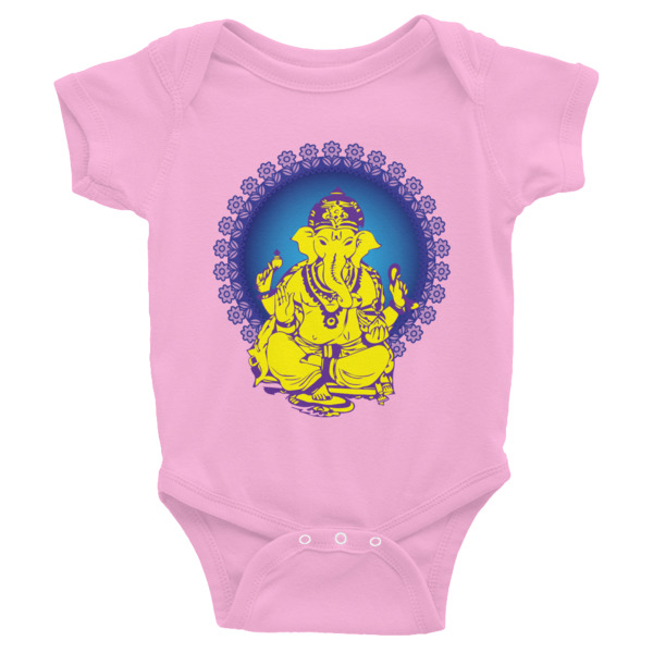 GANESH YELLOW BLUE Infant Bodysuit
