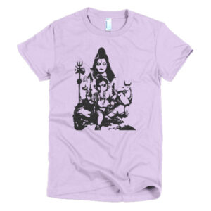 SHIVA AND BABY GANESH Short sleeve women's t-shirt
