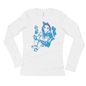 GANESHA SITTING Ladies' Long Sleeve T-Shirt