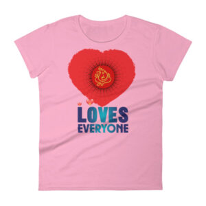 GANESH LOVES EVERYONE Women's short sleeve t-shirt