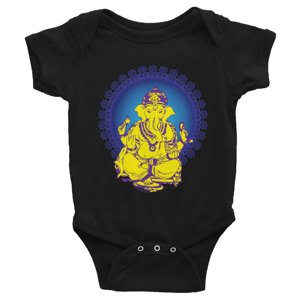 GANESH YELLOW BLUE Infant Bodysuit