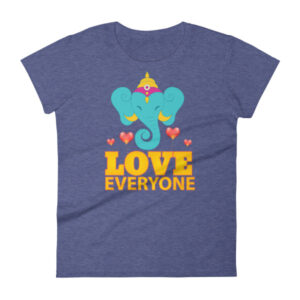 TURQUOISE GANESH LOVES EVERYONE Women's short sleeve t-shirt