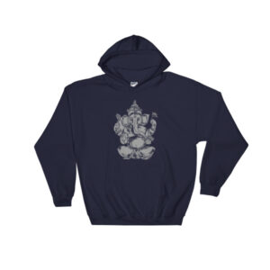 GANESH BLACK GREYSCALE Hooded Sweatshirt