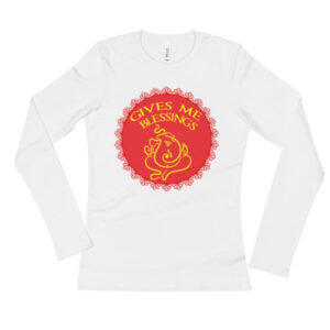 GANESHA GIVES ME BLESSINGS Ladies' Long Sleeve T-Shirt