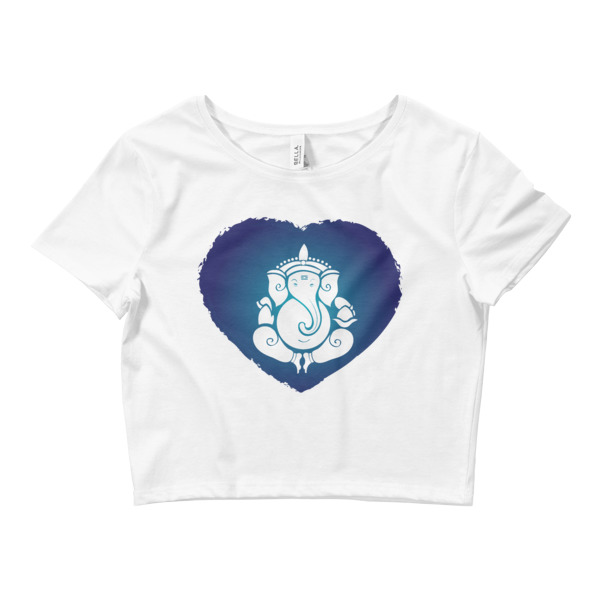 GANESH HEART Women's Crop Tee