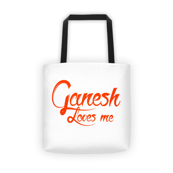 GANESH LOVES ME Tote bag