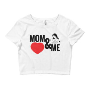 MOM AND ME Women's Crop Tee