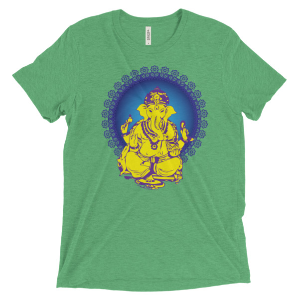 Ganesh Yellow with Blue Short sleeve t-shirt