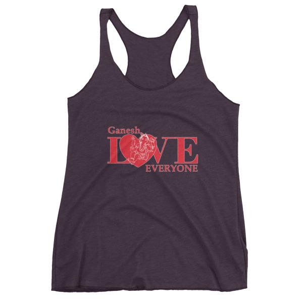 GANESH LOVES EVERYONE RED Women's tank top