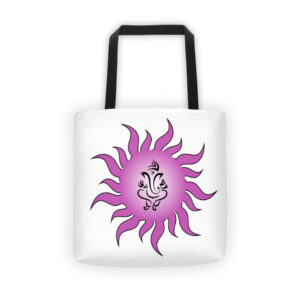 PURPLE STAR GANESH Tote bag