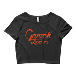 GANESH LOVES ME Women's Crop Tee