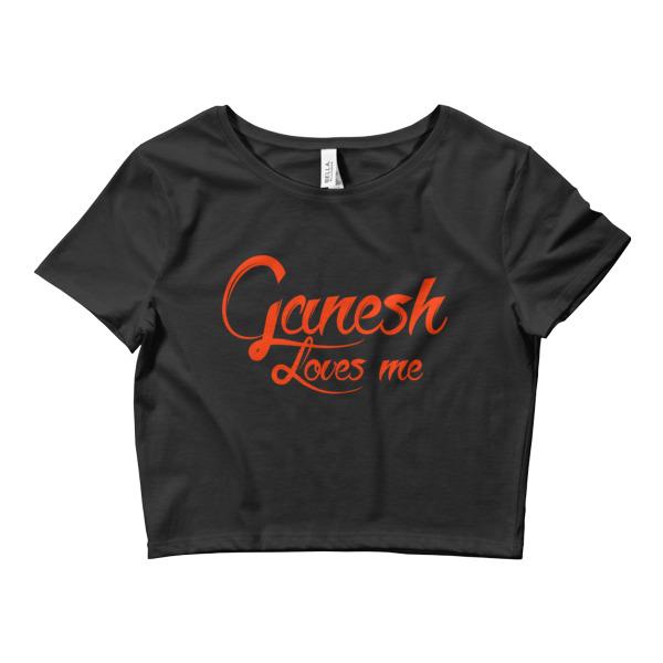 GANESH LOVES ME Women's Crop Tee