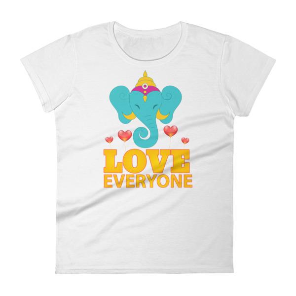 TURQUOISE GANESH LOVES EVERYONE Women's short sleeve t-shirt