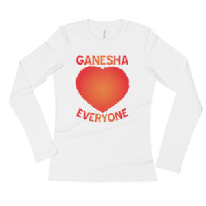 GANESHA LOVE EVERYONE RED Ladies' Long Sleeve T-Shirt
