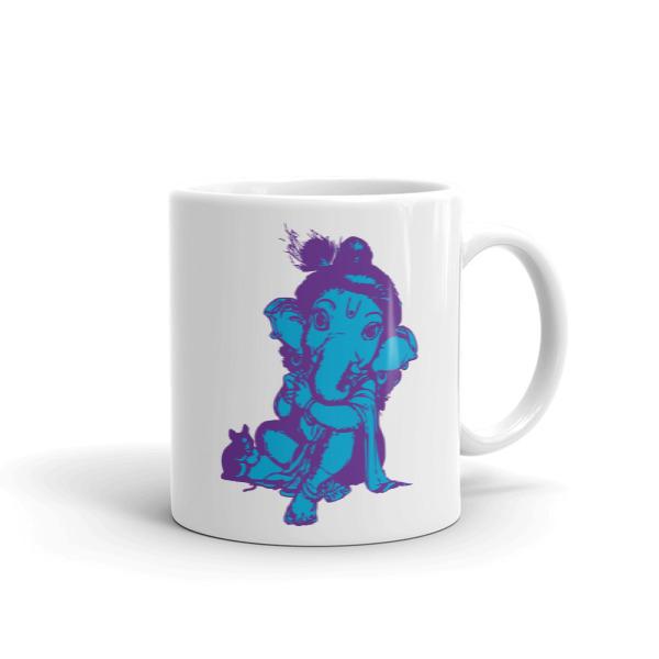 GANESHA BLUE PURPLE CHAI / COFFEE Mug
