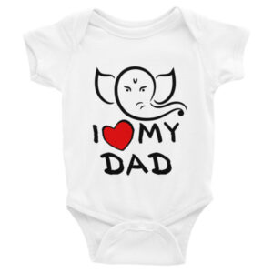 GANESH I LOVE MY DAD Infant short sleeve one-piece