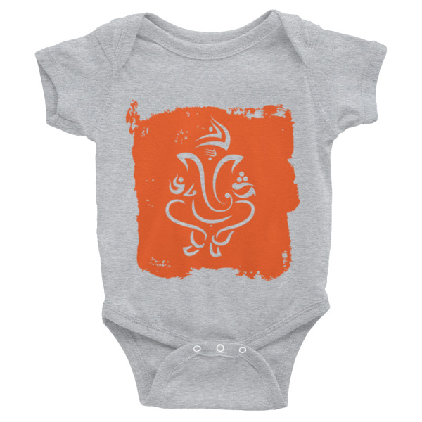 GANESH ORANGE SILHOUETTE Infant Bodysuit