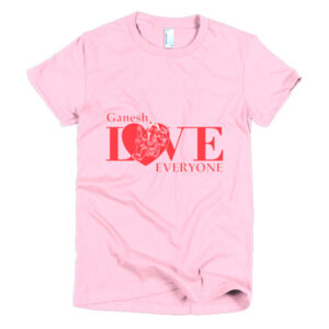 GANESH LOVES EVERYONE HEART Short sleeve women's t-shirt