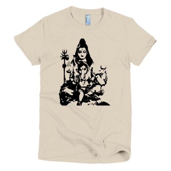 SHIVA AND BABY GANESH Short sleeve women's t-shirt