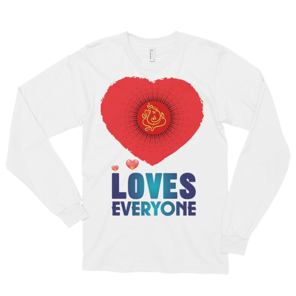 GANESH LOVES EVERYONE Long sleeve t-shirt (unisex)