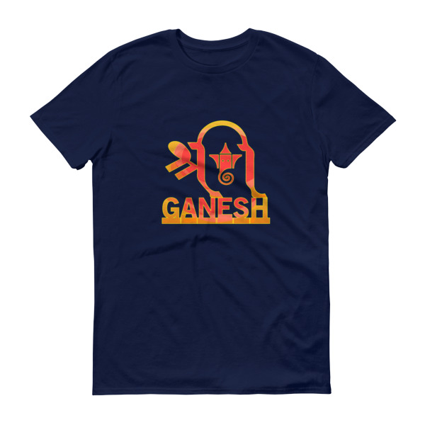 Shri Ganesh Short sleeve t-shirt - dark