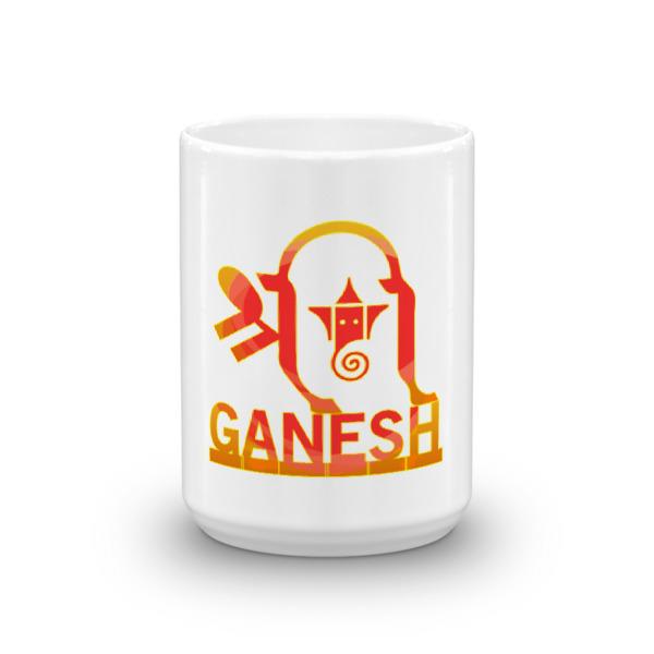 Ganesh Inside Ganesh Orange Mug